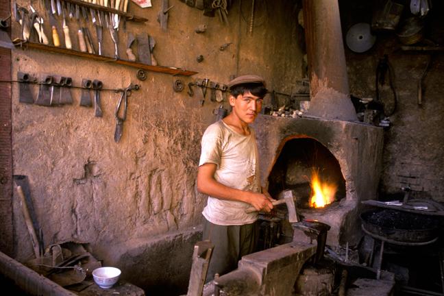 Blacksmith, Kashgar, China